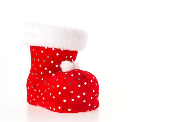 Presente vermelha meia brilhante tradicional