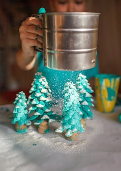 Presentes de artesanato diy e decoração de natal.