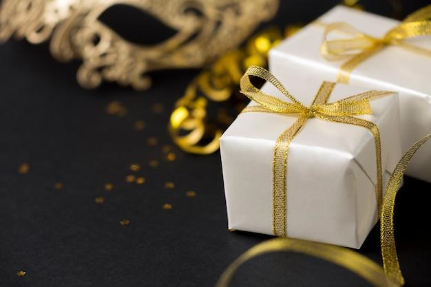 Presentes de close-up para festa de aniversário