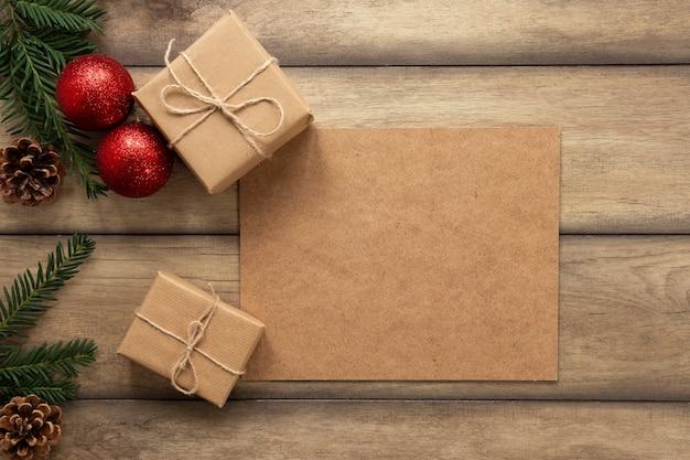 Presentes de natal com espaço de cópia