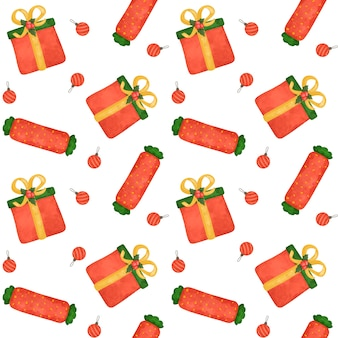 Presentes de natal, papel digital de bastões de doces, padrão sem emenda de doces, papel de embrulho vermelho, plano de fundo