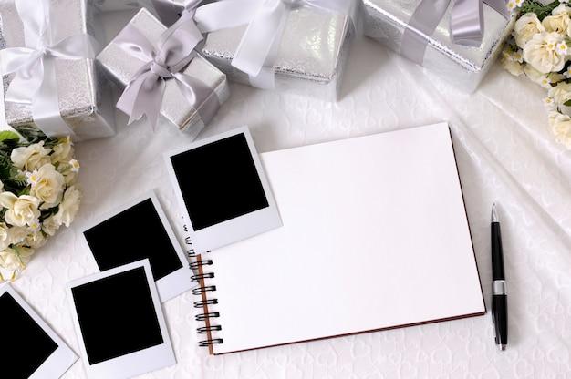 Presentes e fotos de casamento