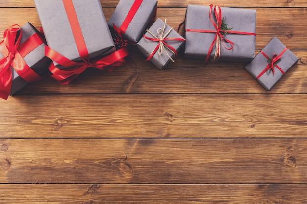 Presentes para qualquer conceito de férias, caixas de presente
