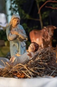 Presépio de natal com o menino jesus e maria
