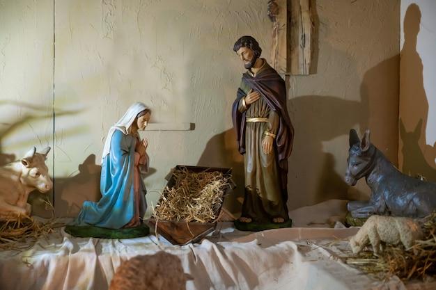 Presépio de natal sem o bebê jesus creche