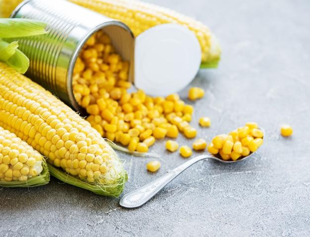 Preserva milho doce e milho cru