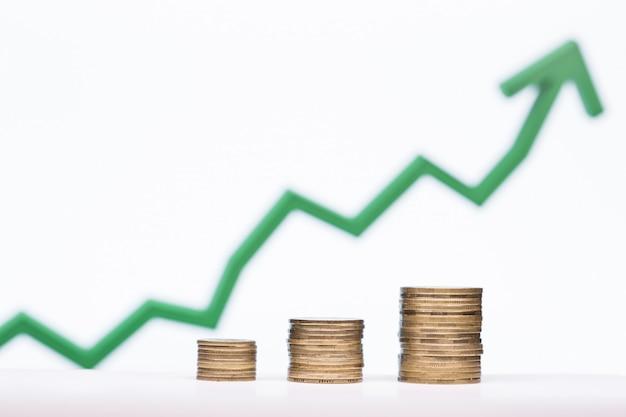 Preservação do conceito de dinheiro, com um gráfico crescente