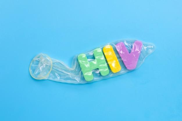 Preservativo com alfabeto