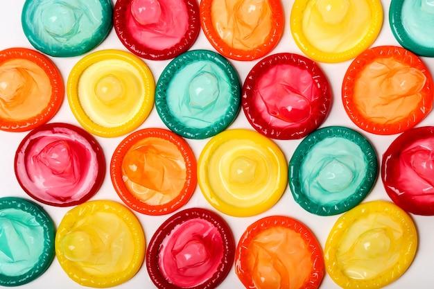 Preservativos coloridos