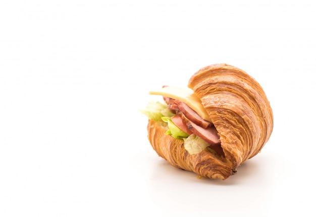 Presunto de sanduíche de croissant