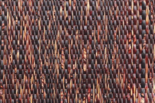 Preto e textura de brown da esteira tailandesa tradicional.