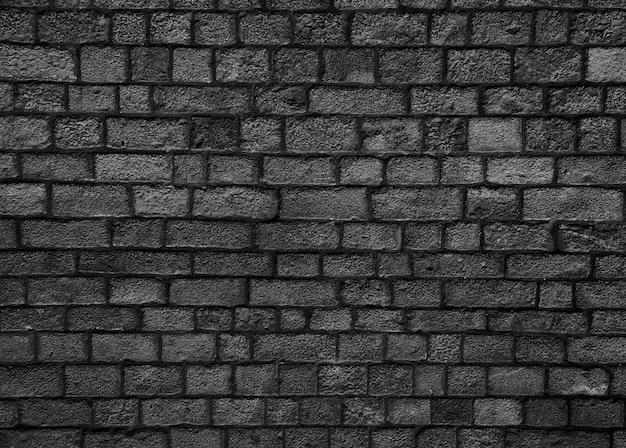 Preto tijolo textura da parede