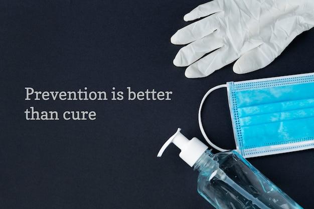 Prevenção é melhor do que remediar bandeira da pandemia de coronavírus