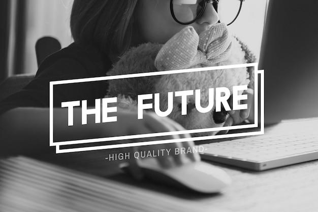 Previsão do futuro imagine o conceito de progresso do plano de inovação