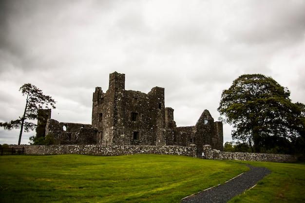 Primavera na abadia de bective (mainistir bheigti), irlanda.