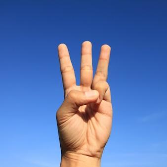 Primeira idéia índice gesticular gesto