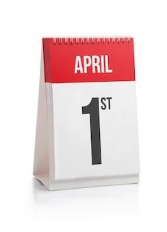 Primeiro dia do calendário de dias do mês de abril