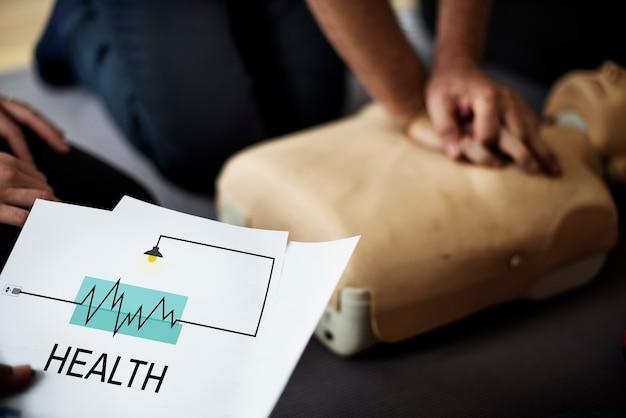 Primeiros socorros de cuidados médicos de saúde