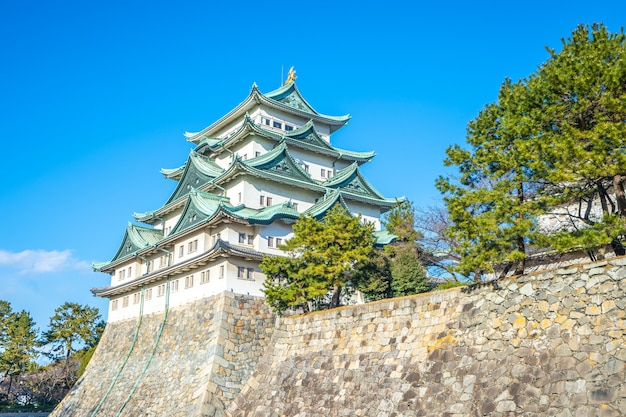 Principal, mantenha, de, castelo nagoya, em, nagoya, japão