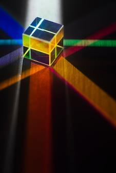 Prismas de luz coloridos