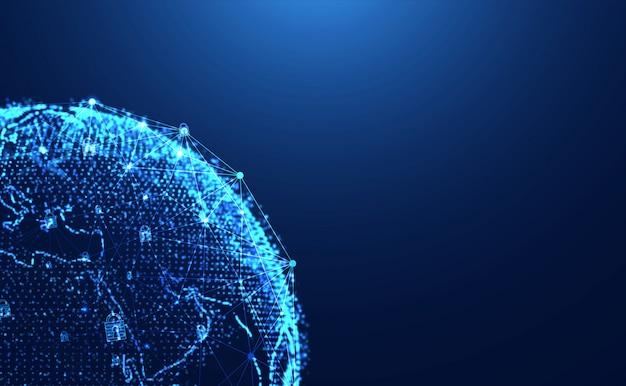 Privacidade de cibersegurança de tecnologia abstrata