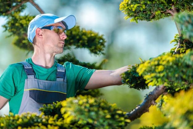 Pro gardener no trabalho