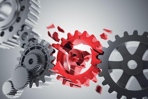 Problema de conexão das engrenagens do mecanismo