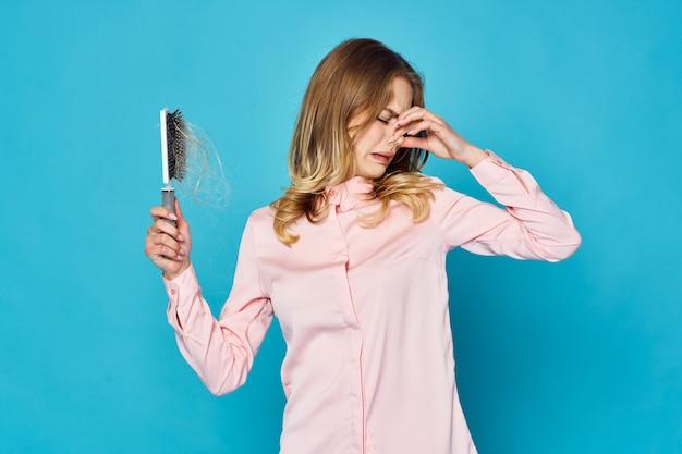 Problema de perda de cabelo de mulher