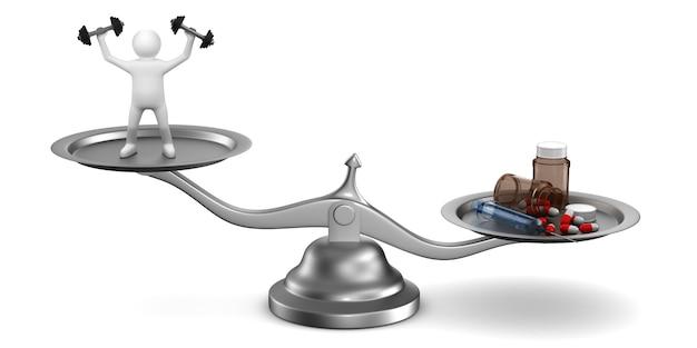 Problemas com drogas no esporte. ilustração 3d isolada
