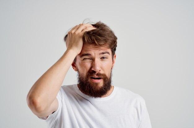 Problemas de saúde do homem, enxaqueca, transtorno de estresse isolado fundo