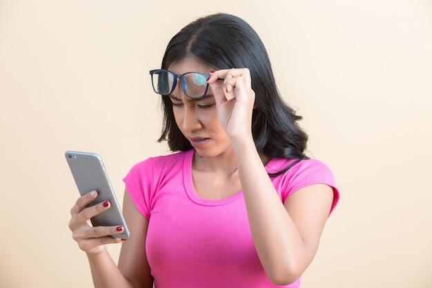 Problemas oculares, como míope