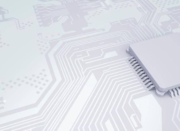 Processador central dos processadores do computador 3d.