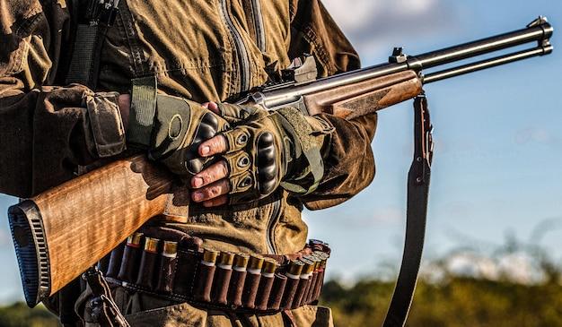 Processo de caça durante a temporada de caça