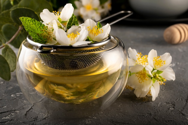 Processo de fabricação de chá verde de jasmim