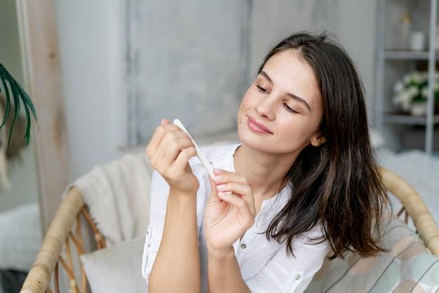 Processo de manicure para unhas