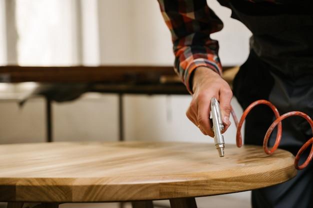 Processo de trabalho na oficina de carpintaria