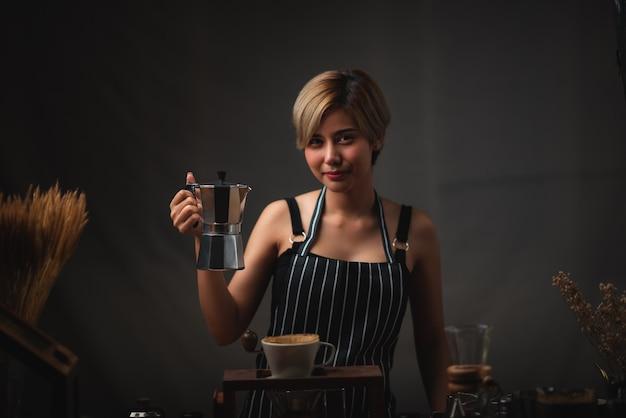Processo para fazer café com kits gotejadores de filtro de café, ferramentas de estilo vintage para cerveja barista