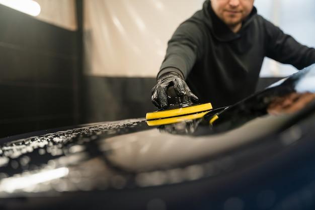 Processo profissional de lavagem de carros
