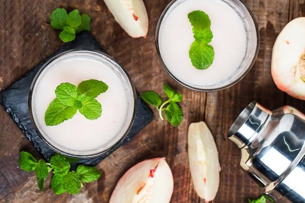 Produção de suco de pêssego