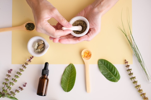 Produto à base de plantas para medicina orgânica.