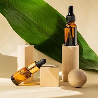 Produto cosmético natural, soro para o cuidado e beleza da pele e dos cabelos