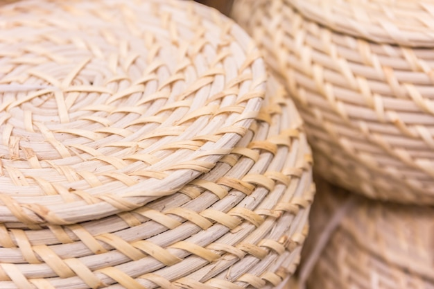 Produto de rattan de vime e cestas