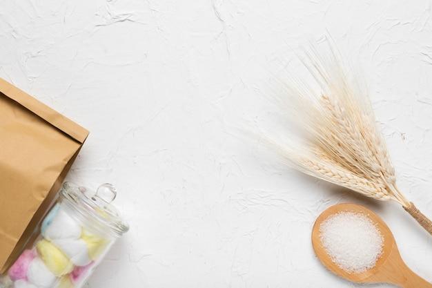 Produtos cosméticos de higiene do conceito de spa