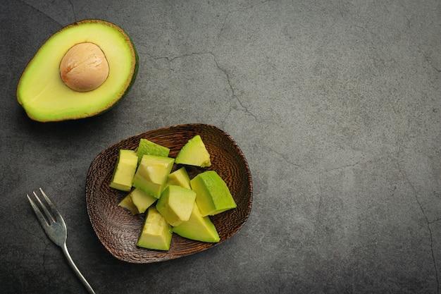 Produtos de abacate feitos de abacate conceito de nutrição alimentar.