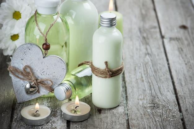 Produtos de banho, velas