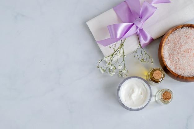 Produtos de cuidados da pele natural spa