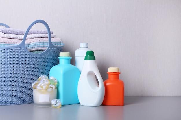 Produtos de lavagem de sabão em pó isolados