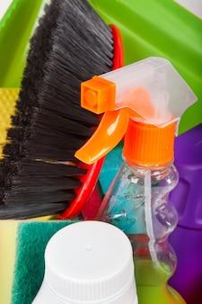 Produtos de limpeza detergente químico doméstico