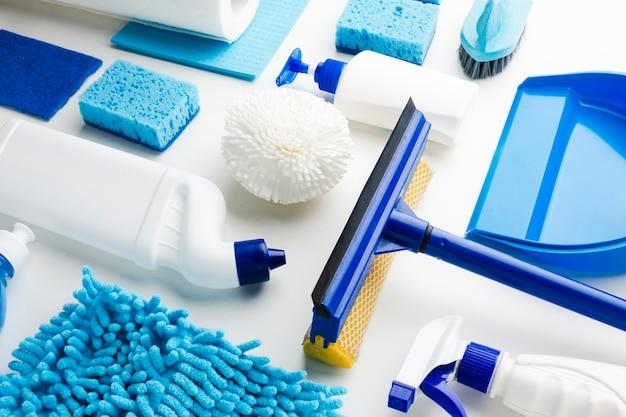 Produtos de limpeza em close-up
