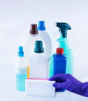 Produtos de limpeza para desinfecção conceito de cuidados de saúde